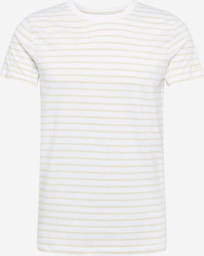 TOM TAILOR DENIM T-Shirt in beige / weiß, Produktansicht
