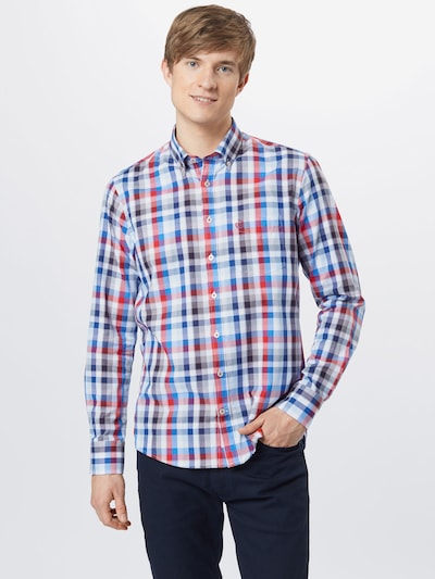 bugatti Shirt in Blue / Red / White: Frontal view