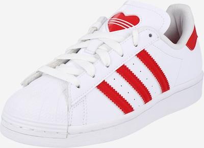 ADIDAS ORIGINALS Sneaker 'SUPERSTAR J' in blutrot / weiß, Produktansicht