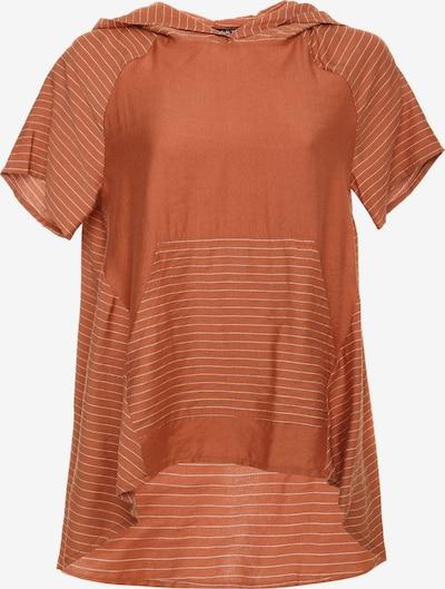 Madam-T Tuniek 'Kira' in de kleur Sinaasappel / Wit, Productweergave