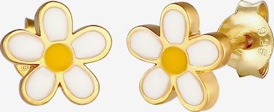 ELLI Oorbellen in de kleur Geel / Goud / Wit, Productweergave