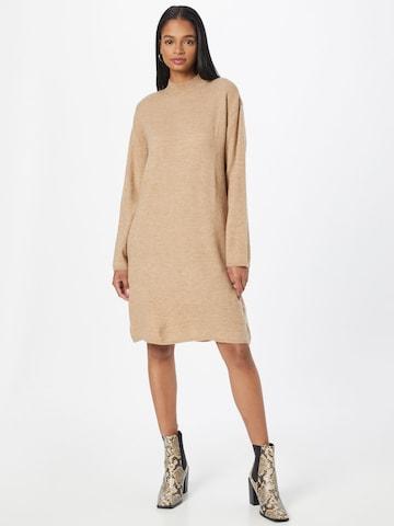 minimum Gebreide jurk 'Patriona' in Beige