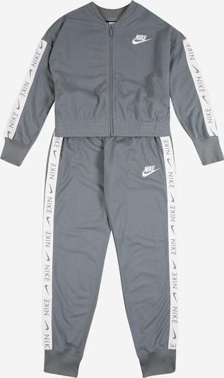 Nike Sportswear Trainingsanzug in grau / weiß, Produktansicht