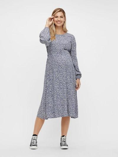 Pieces Maternity Umstandskleid 'DORA' in taubenblau / dunkelblau / weiß, Modelansicht