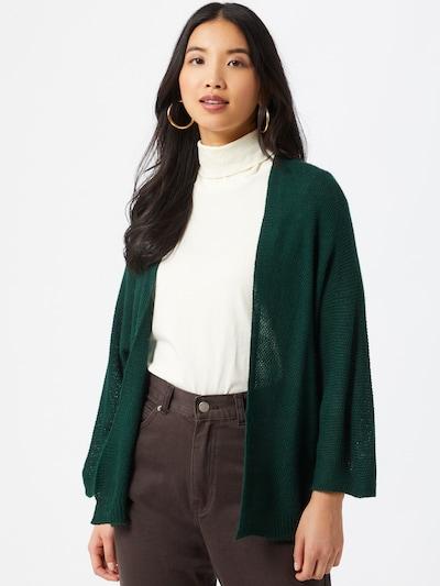Hailys Strickjacke 'Verena' in dunkelgrün, Modelansicht