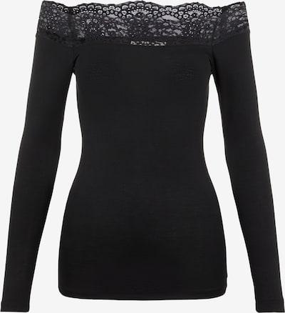 Tricou 'PCSIE LS TOP D2D' PIECES pe negru, Vizualizare produs
