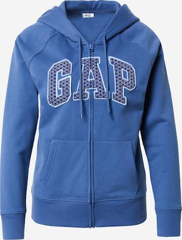 GAP Sweatjacke 'NOVELTY' in Blau