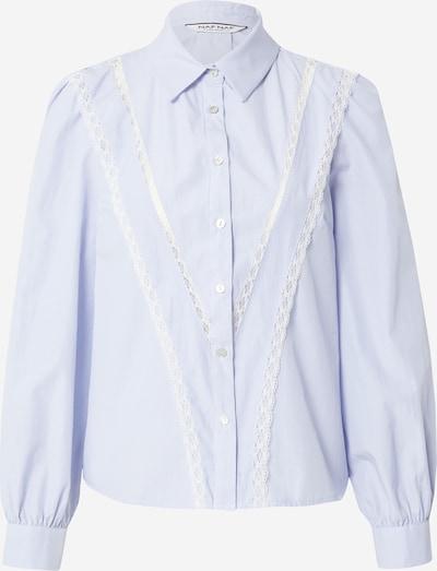 NAF NAF Chemisier en bleu clair / blanc, Vue avec produit
