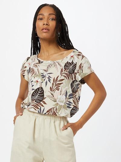ONLY Bluzka 'NOVA LIFE' w kolorze kremowy / ecru / karmelowy / białym, Podgląd na modelu(-ce)