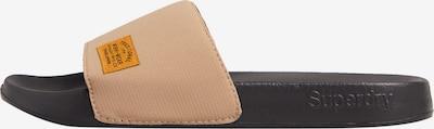 Superdry Strand-/badschoen in de kleur Lichtbeige / Zwart, Productweergave