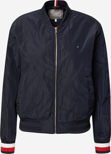 TOMMY HILFIGER Prechodná bunda 'Poly' - tmavomodrá / červená / biela, Produkt
