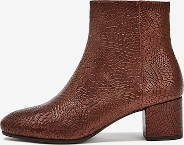 NINE TO FIVE Ankle boots 'Strand' σε καφέ