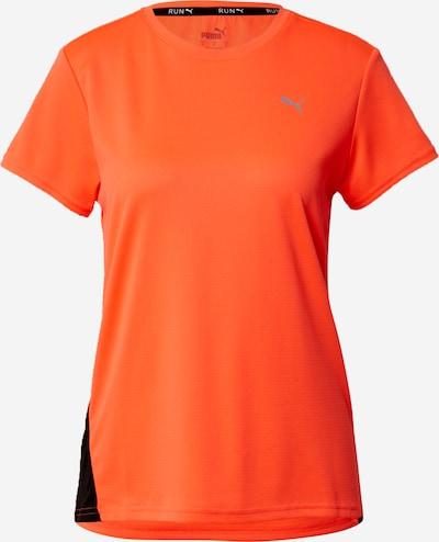 PUMA T-shirt fonctionnel en gris clair / orange foncé / noir, Vue avec produit