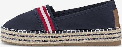 TOM TAILOR DENIM Espadrilles in navy / braun / rot / weiß, Produktansicht