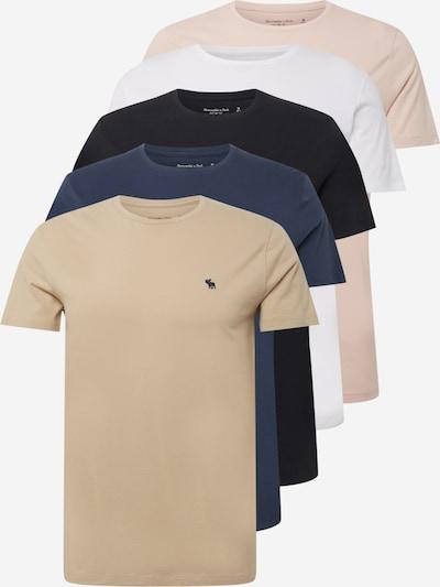 Abercrombie & Fitch Koszulka w kolorze jasny beż / granatowy / stary róż / czarny / białym, Podgląd produktu