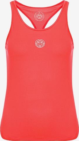 BIDI BADU Tank-Top Rahel mit sportlichem Markenprint in Rot