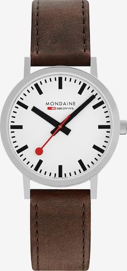 Mondaine Unisex-Uhren Analog Quarz ' ' in braun / silber, Produktansicht