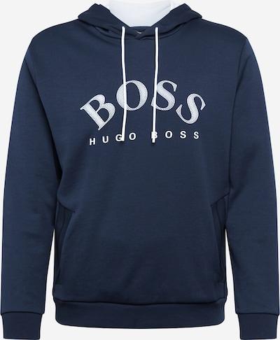 BOSS ATHLEISURE Sweat-shirt 'Soody' en bleu marine / blanc, Vue avec produit