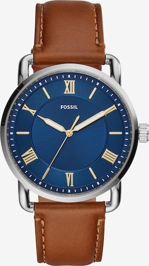FOSSIL Uhr in blau / braun / silber, Produktansicht