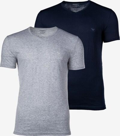 Emporio Armani Shirt in de kleur Marine / Lichtgrijs, Productweergave