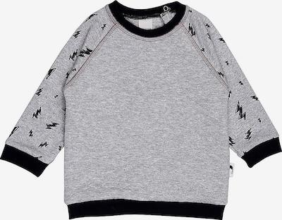 Stummer Sweatshirt in graumeliert / schwarz, Produktansicht