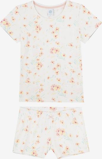 SANETTA Pyjama in nude / gelb / mint / melone / weiß, Produktansicht