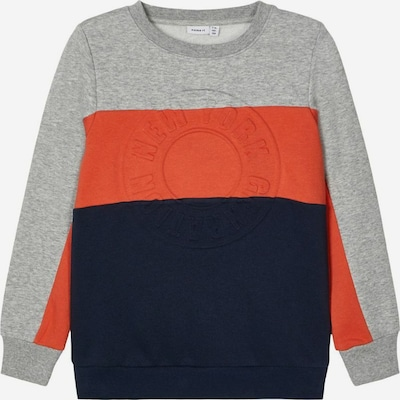 NAME IT Colourblocking Sweatshirt in grau, Produktansicht