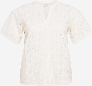 KAFFE CURVE Bluse in Weiß