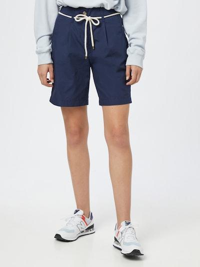ESPRIT Kalhoty se sklady v pase - námořnická modř, Model/ka