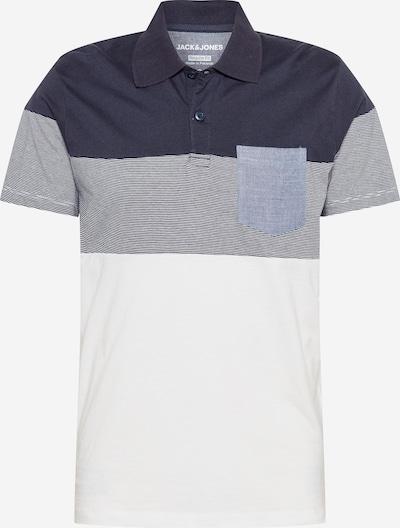 JACK & JONES Majica | mornarska / dimno modra / bela barva, Prikaz izdelka