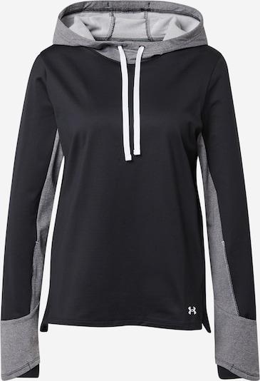 UNDER ARMOUR Athletic Sweatshirt in Grey / Black, Item view