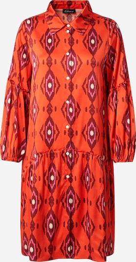 Grace Robe-chemise en violet / orange / lie de vin / blanc, Vue avec produit