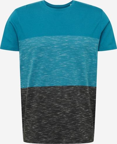 EDC BY ESPRIT Shirt in de kleur Hemelsblauw / Blauw gemêleerd / Zwart gemêleerd, Productweergave