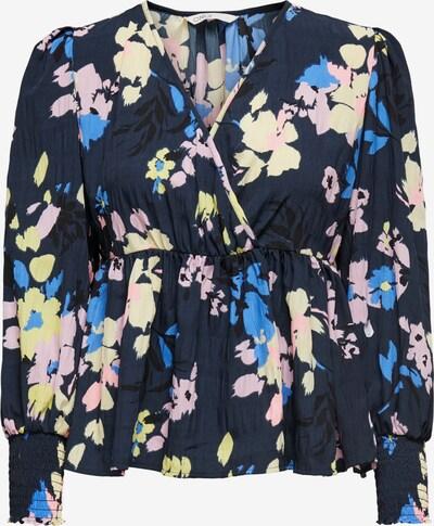 ONLY Bluse 'Zozo' in blau / nachtblau / graphit / rosa, Produktansicht