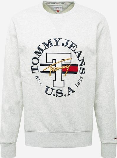 Tommy Jeans Sweatshirt 'TIMELESS' in dunkelblau / gold / silbergrau / graumeliert / rot, Produktansicht
