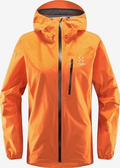 Haglöfs Outdoorjas 'L.I.M' in de kleur Sinaasappel / Zwart / Wit, Productweergave