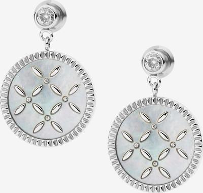 Cercei FOSSIL pe argintiu / alb, Vizualizare produs