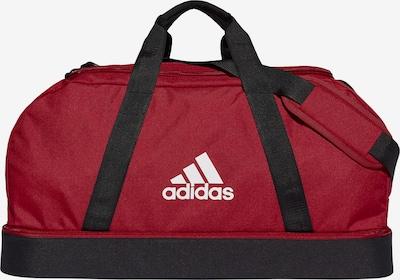 ADIDAS PERFORMANCE Sporttasche 'Tiro' in dunkelrot / schwarz / weiß, Produktansicht