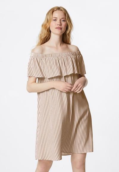 HALLHUBER Off-Shoulder-Kleid in beige / weiß, Modelansicht