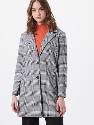 JACQUELINE de YONG Mantel 'EMMA' in grau / schwarz / weiß, Modelansicht