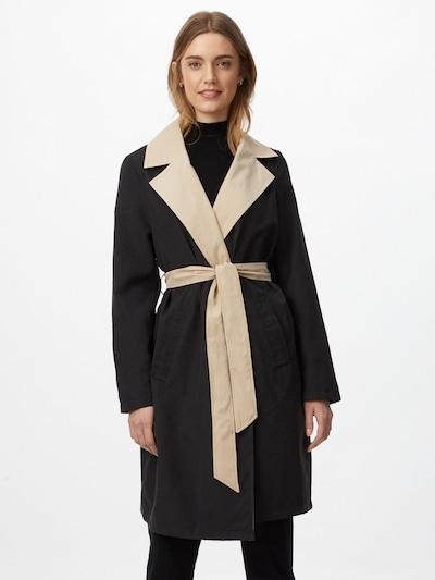 VERO MODA Abrigo de entretiempo en beige / negro, Vista del modelo