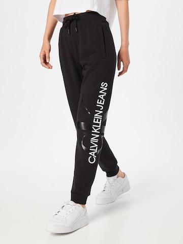 Calvin Klein Jeans Hose in Schwarz