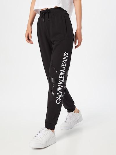 Calvin Klein Jeans Панталон в черно / бяло, Преглед на модела