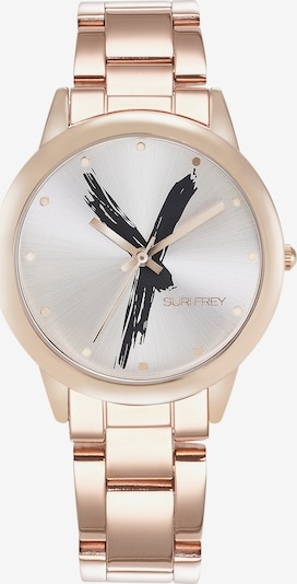 Suri Frey Montre à affichage analogique 'Betty' en or rose / noir / blanc, Vue avec produit