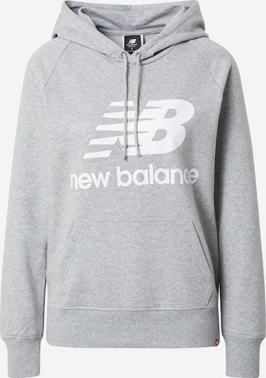 Bluză de molton new balance pe gri amestecat / alb, Vizualizare produs