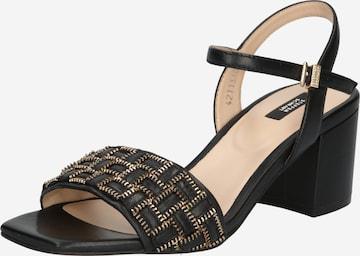 Sandale cu baretă de la STEFFEN SCHRAUT pe negru