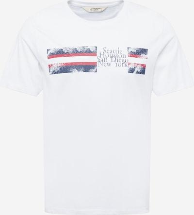 Hailys Men T-Krekls 'Marlo', krāsa - naktszils / sarkans / balts, Preces skats