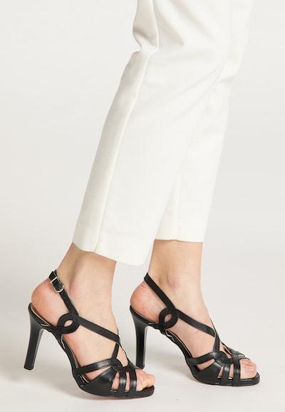 DreiMaster Klassik Sandale in schwarz: Frontalansicht