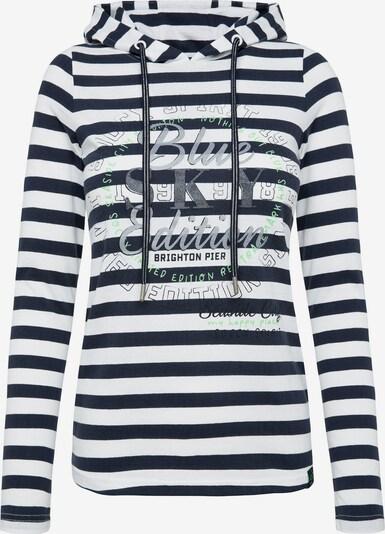 Soccx Kapuzenshirt in schwarz / weiß, Produktansicht