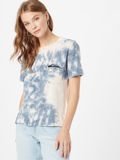 QUIKSILVER T-Shirt 'DAILY SESSION CROP TEE' in blau / rosa: Frontalansicht